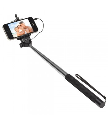 Perche télescopique selfie avec bouton