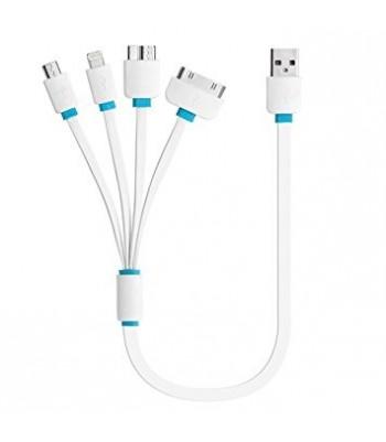 Câble 4 en 1 pour smartphone