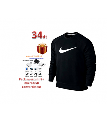 Pack sweat shirt + micro USB convertisseur