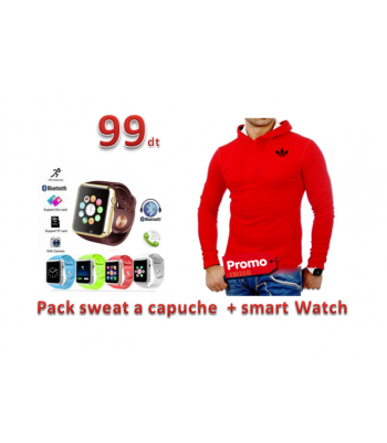 Pack sweat a capuche  + smart Watch