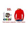 Pack sweat a capuche  + smart Watch